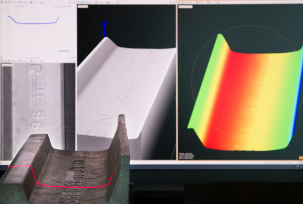 LineScan3D - point cloud and intensiry image